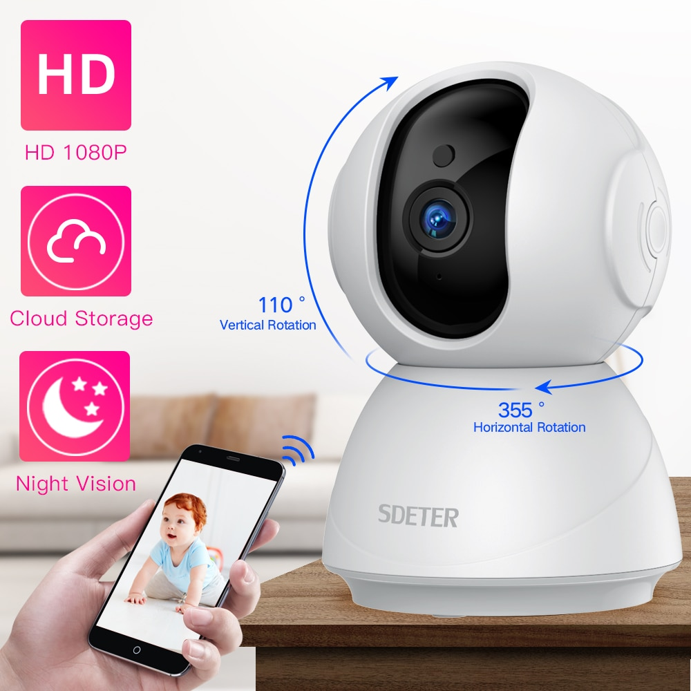 Hd 1080x720p Wireless Ip Camera Portable Smart Wifi Cctv